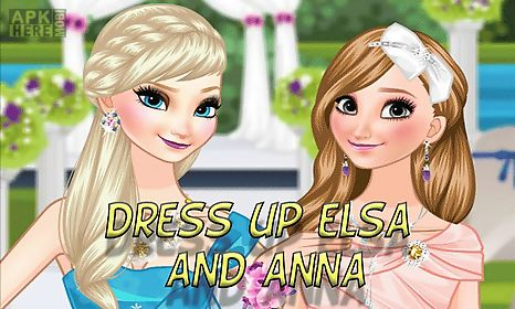 dress up elsa and anna the wedding