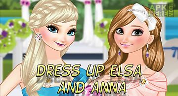 Dress up elsa and anna the weddi..