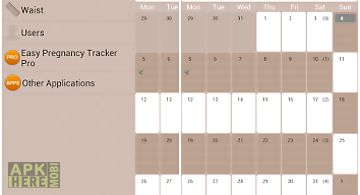 Easy pregnancy tracker