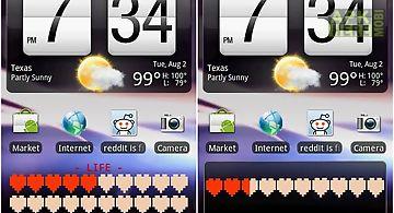 Battery health bar widget