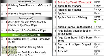 Grocery tracker shopping list
