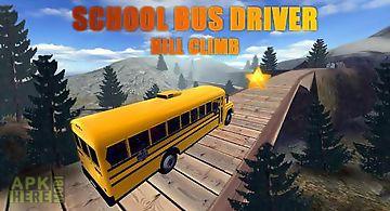 School bus driver: hill climb