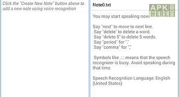 Speech to text notepad