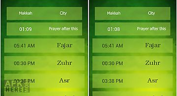 Azan time for all prayers