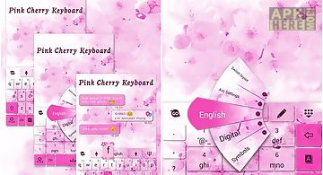 Pink cherry go keyboard theme