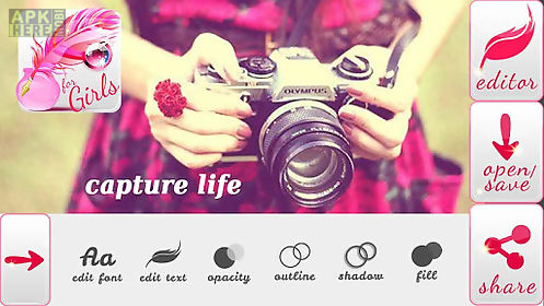 write text on photos for girls