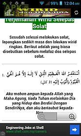 zikir dan doa selepas solat