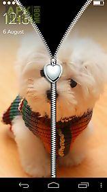 cool puppy zipper lockscreen