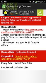 free mobile recharge coupons