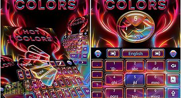 Hot colors go keyboard theme