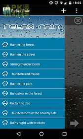 Relax rain nature sounds for Android free download at Apk Here store