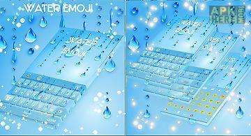 Water theme for emoji keyboard