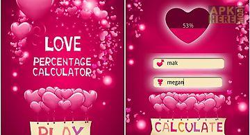 Love percentage calculator