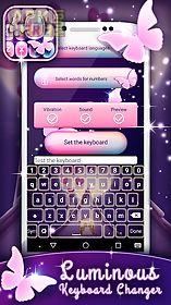 luminous keyboard changer