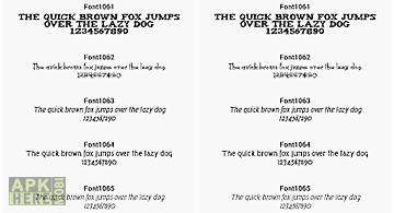 Fonts for flipfont 106