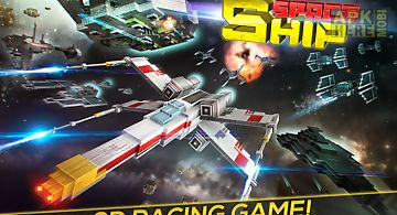 Space ship flight simulator 3d