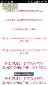 color fonts for flipfont #3