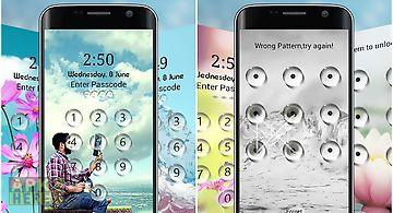 Water drop lock screen privacy
