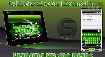 Slideit green neon skin