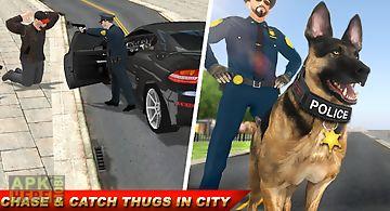 Police dog criminals mission