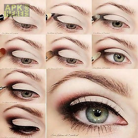 Step by step eye makeup for Android free download at Apk
