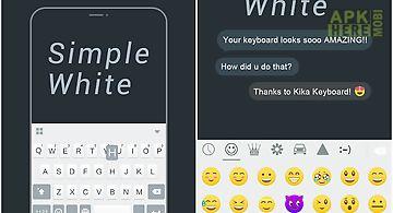 Simple white keyboard theme