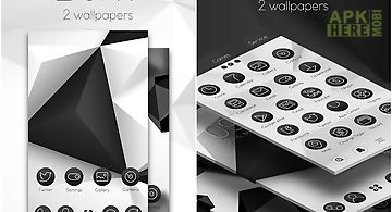 Black & white launcher theme