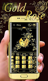 gold rose go keyboard theme