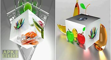 3d glass  hd Live Wallpaper