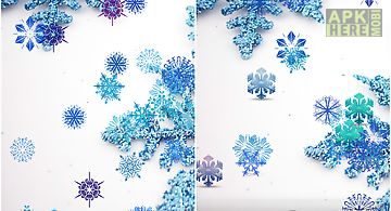 Beautiful snowflakes lwp Live Wa..