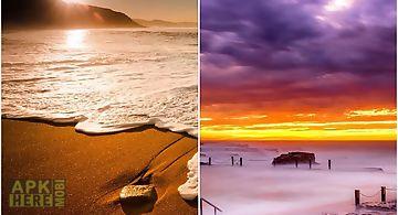 Ocean and sunset Live Wallpaper