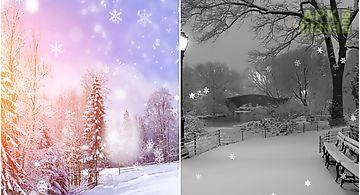 Snowfall landscape Live Wallpape..