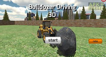 Bulldozer driving 3d
