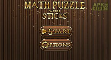 Math puzzle with sticks