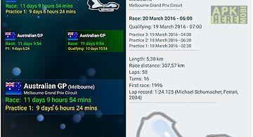 Nextrace countdown widget
