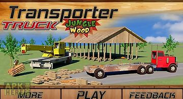 Transporter truck: jungle wood