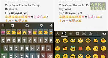 Cute color skin emoji keyboard