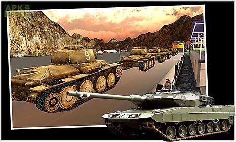 military tank transport train