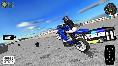 racing motorbike trial