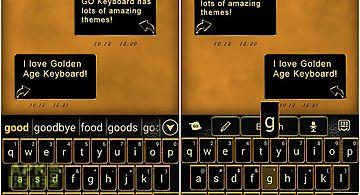 Go keyboard golden age theme