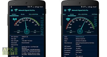 Network info widget for Android free download at Apk Here store
