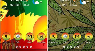 Reggae rasta color theme