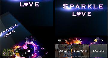 Sparkle love 💘 keyboard theme