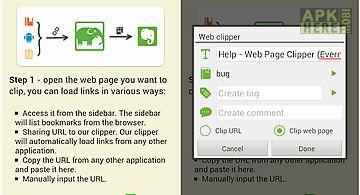Web page clipper trial