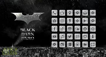 Black dark hero launcher theme