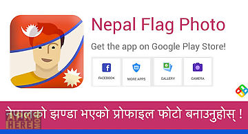 Nepal flag photo editor