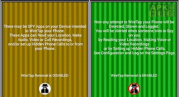 Wiretap and spy removal