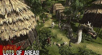 Asian black dragon sim 3d
