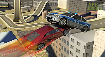 Extreme car stunt city driving