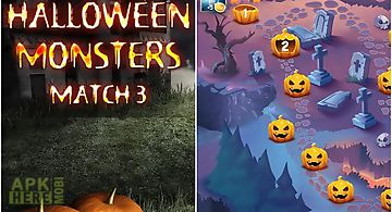 Halloween monsters: match 3